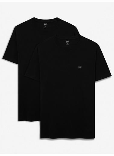 Gap 2'Li Gap Logo Kısa Kollu T-Shirt Seti Siyah